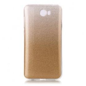 Huawei Y5 II kulta kimalle silikonisuojus.