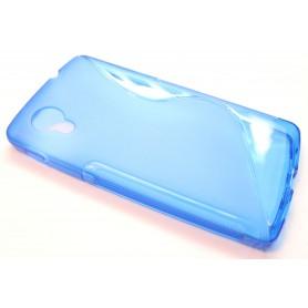 LG Google Nexus 5 sininen silikonisuojus.