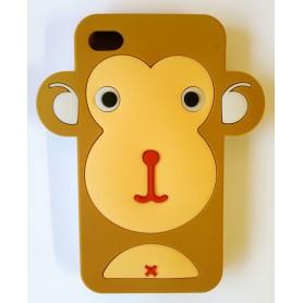 iPhone 5 ruskea apina silikonisuojus.