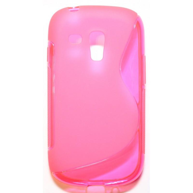 Galaxy S3 Mini roosan punainen silikonisuojus.