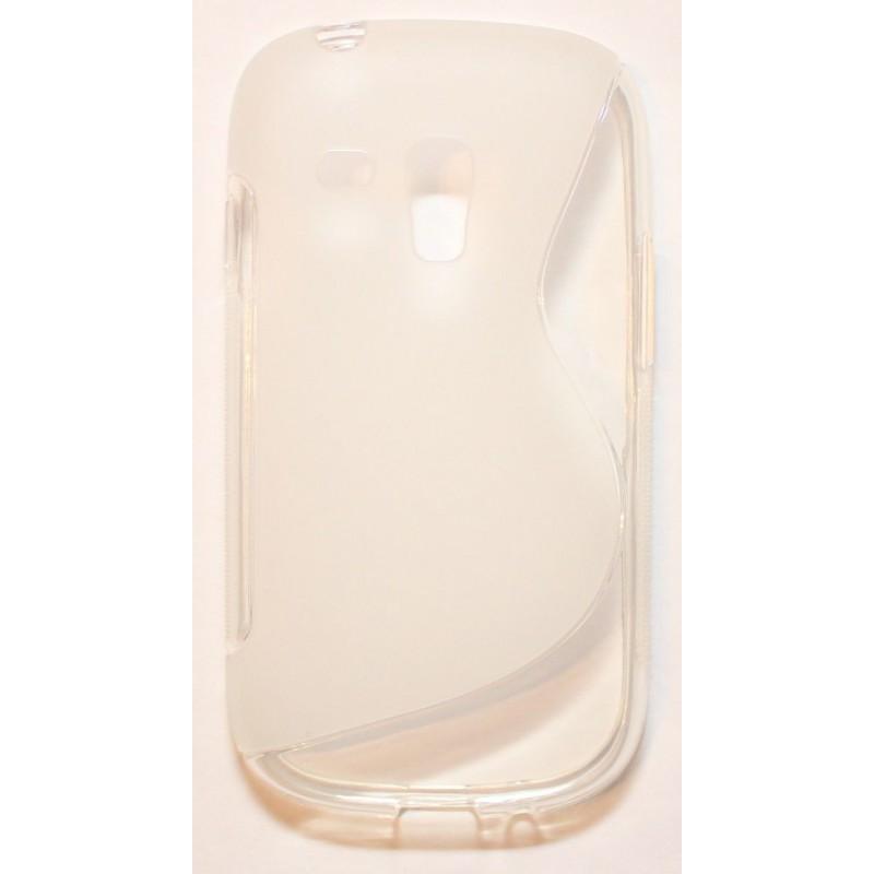 Galaxy S3 Mini läpinäkyvä silikonisuojus.