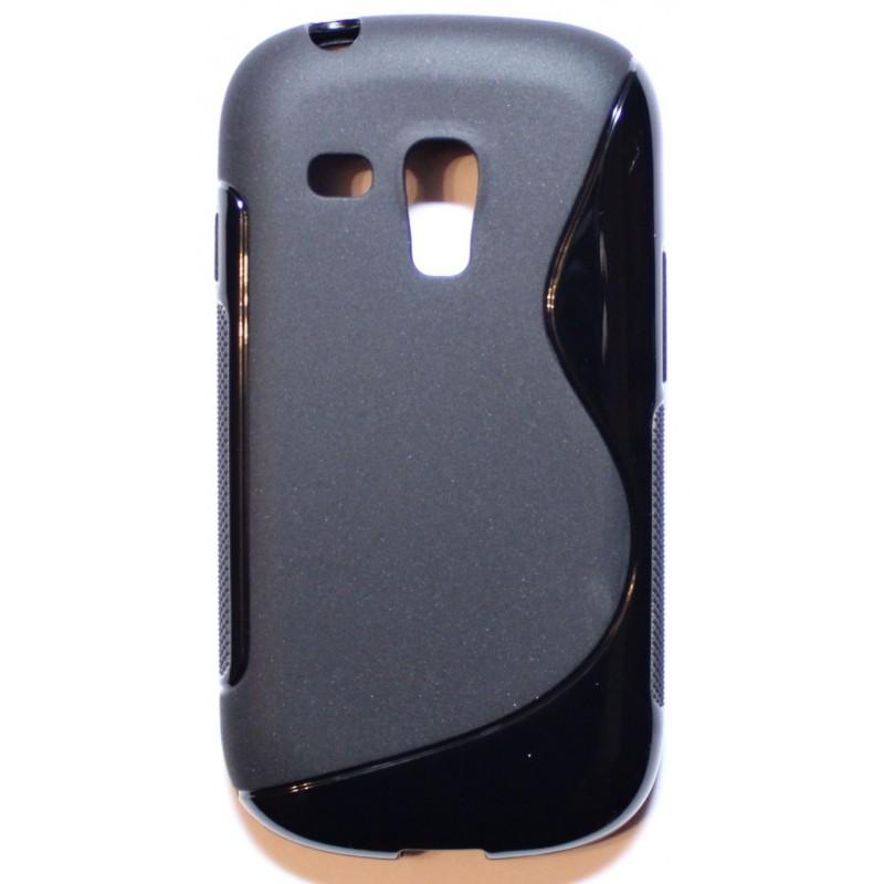 Galaxy S3 Mini musta silikonisuojus.
