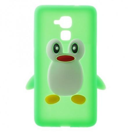 Huawei Honor 7 Lite vihreä pingviini silikonikuori.