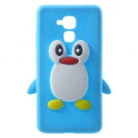 Huawei Honor 7 Lite sininen pingviini silikonikuori.