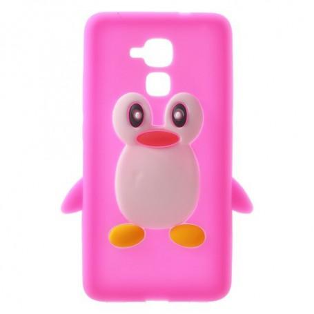 Huawei Honor 7 Lite pinkki pingviini silikonikuori.