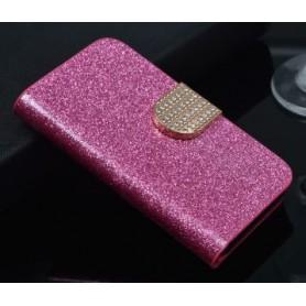 Huawei Honor 7 Lite pinkin värinen glitter kansikotelo