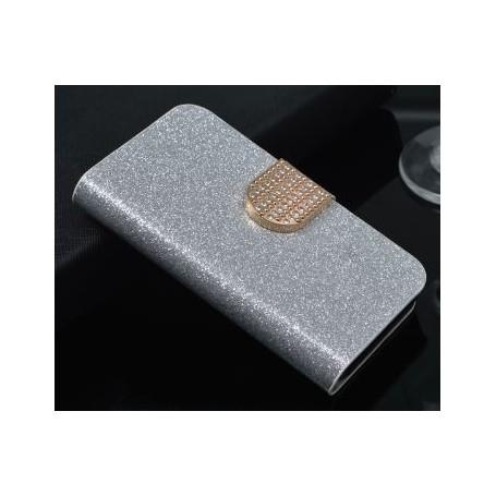 Huawei Honor 7 Lite hopean värinen glitter kansikotelo