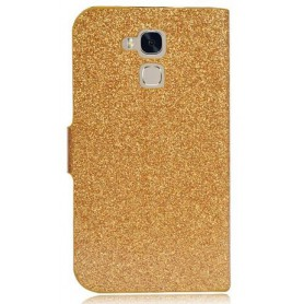 Huawei Honor 7 Lite kullan värinen glitter kansikotelo