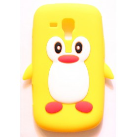 Galaxy Trend keltainen pingviini silikonisuojus.
