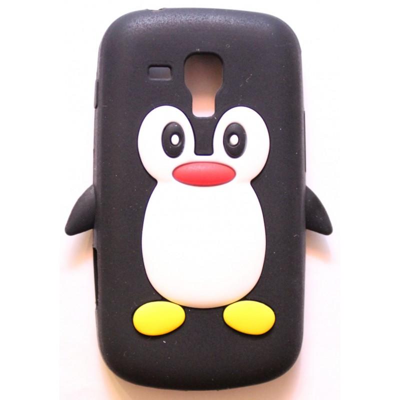 Galaxy Trend musta pingviini silikonisuojus.