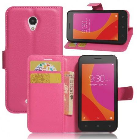 Lenovo A Plus pinkki puhelinlompakko