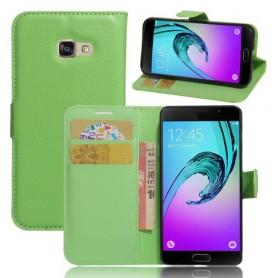 Samsung Galaxy A3 2017 vihreä puhelinlompakko