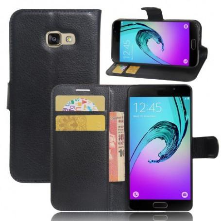 Samsung Galaxy A3 2017 musta puhelinlompakko