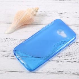 Samsung Galaxy A3 2017 sininen silikonisuojus.