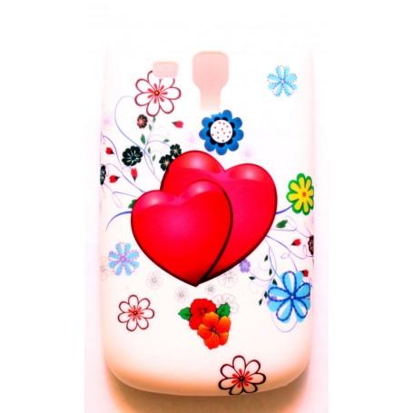 Galaxy trend sydän ja kukkia silikonisuojus.