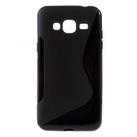 Samsung Galaxy J3 musta silikonisuojus.