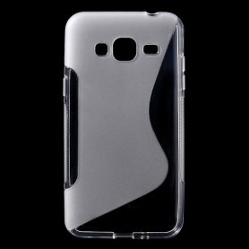 Samsung Galaxy J3 läpinäkyvä silikonisuojus.