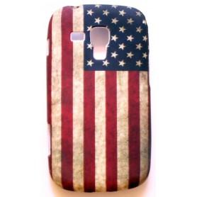 Galaxy trend Yhdysvaltojen lippu silikonisuojus.