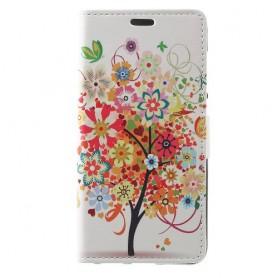Huawei Honor 8 Lite värikäs puu puhelinlompakko