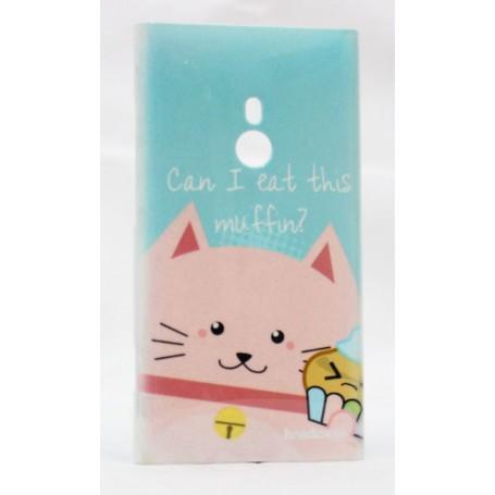 Lumia 800 vaaleanpunainen kissa suojakuori.