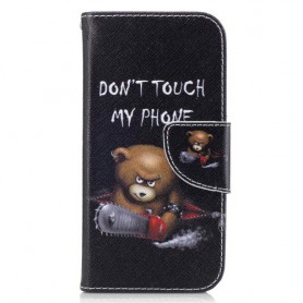 Samsung Galaxy A3 2017 vihainen nalle puhelinlompakko