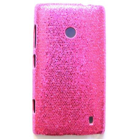 Lumia 520 hot pink glitter suojakuori.