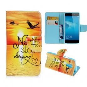 Huawei Honor 7 Lite auringonlasku puhelinlompakko