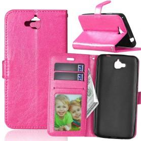 Huawei Y6 Pro hot pink puhelinlompakko