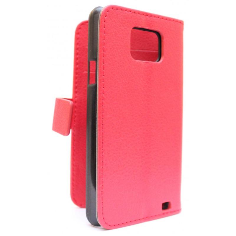 Samsung Galaxy S2 punainen puhelinlompakko
