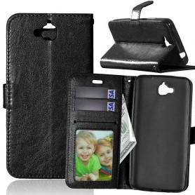 Huawei Y6 Pro musta puhelinlompakko