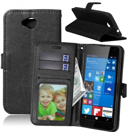 Lumia 650 musta puhelinlompakko