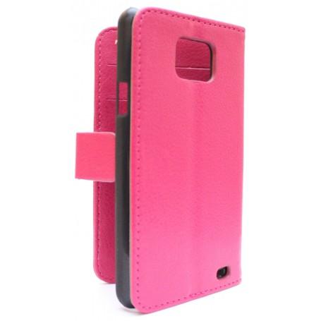 Samsung Galaxy S2 hot pink puhelinlompakko