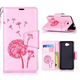 Lumia 650 vaaleanpunainen puhelinlompakko