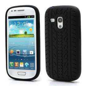 Samsung s3 mini musta rengaskuvio silikonisuojus.