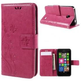 Nokia Lumia 630 pinkki perhoset puhelinlompakko