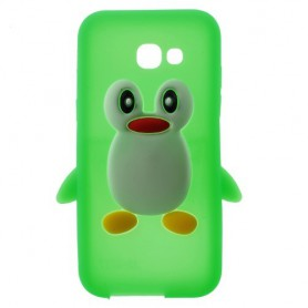 Samsung Galaxy A3 2017 vihreä pingviini silikonikuori.