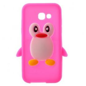 Samsung Galaxy A3 2017 pinkki pingviini silikonikuori.