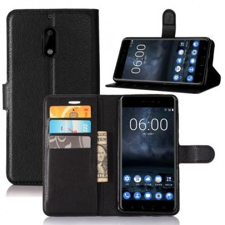 Nokia 6 musta puhelinlompakko