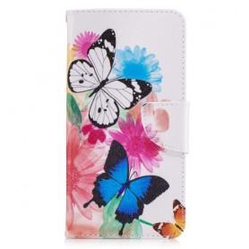 Nokia 6 perhoset puhelinlompakko