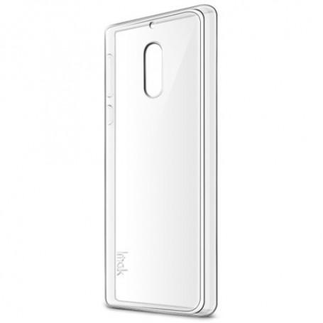 Nokia 6 läpinäkyvä silikonisuojus ja suojakalvo.