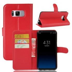 Samsung Galaxy S8 punainen puhelinlompakko