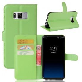 Samsung Galaxy S8 vihreä puhelinlompakko