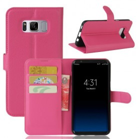 Samsung Galaxy S8 pinkki puhelinlompakko