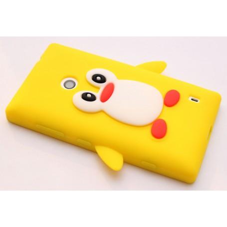 Lumia 520 keltainen pingviini silikonisuojus.