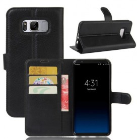 Samsung Galaxy S8 musta puhelinlompakko