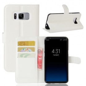 Samsung Galaxy S8 valkoinen puhelinlompakko