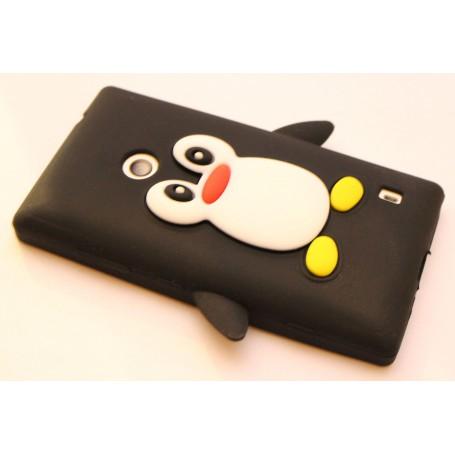 Lumia 520 musta pingviini silikonisuojus.