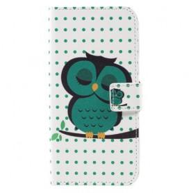 Samsung Galaxy S8 vihreä pöllö puhelinlompakko