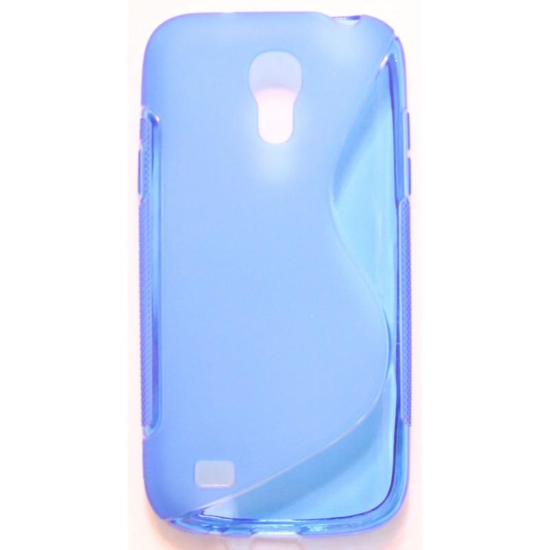 Galaxy S4 Mini sininen silikonisuojus.