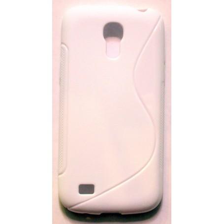 Galaxy S4 Mini valkoinen silikonisuojus.